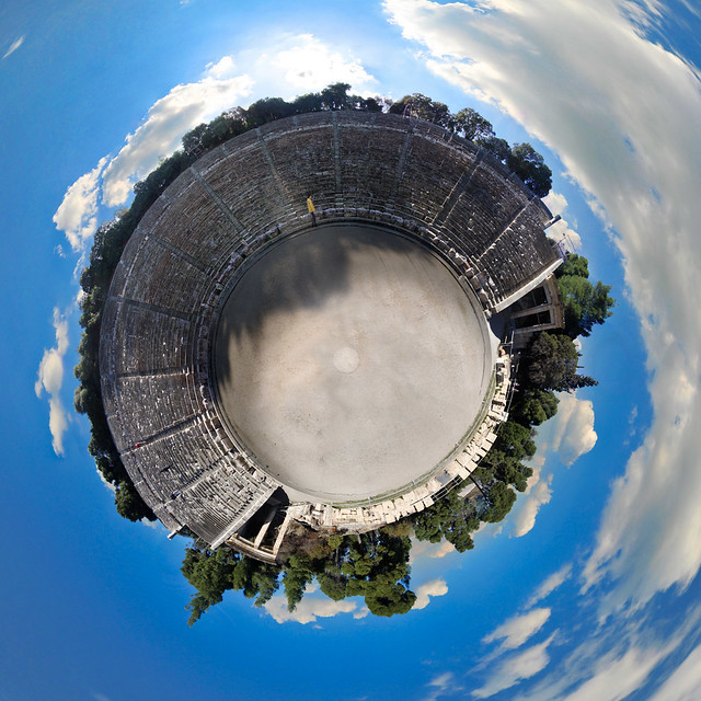 ancient theater of Epidauros little planet, Greece