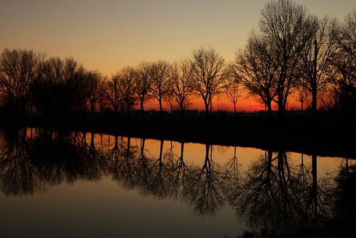 Reflections at sunset