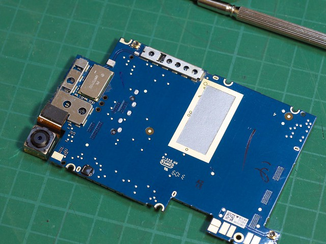logic board down side