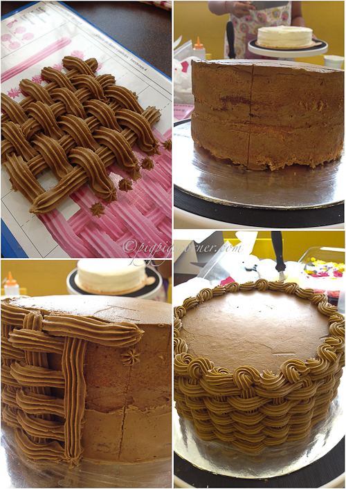 Wilton Method Basketweave cake
