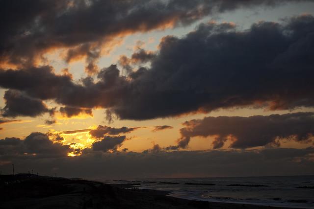 小針浜夕景