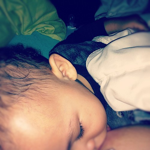 Already taking his morning nap at 8:45am. That means, Gaven woke Mommy up early today. #breastfeeding #bfcafe #the_cause by angeleyes4504