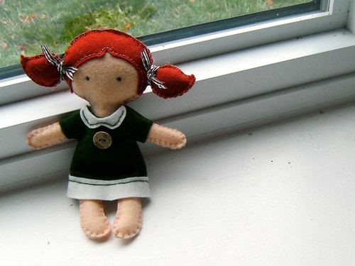 """Evie"" Wool   Felt Doll"
