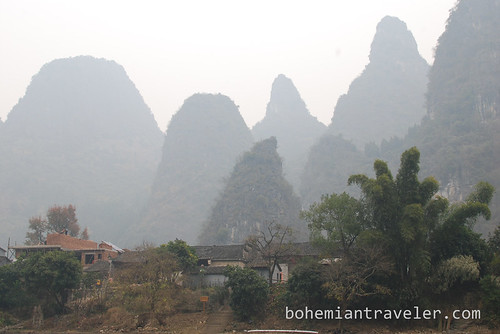 mountains along the Li River