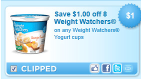 Weight Watchers Yogurt Cups Coupon