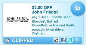 John Frieda Coupon