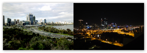 Perth 2011 - Kings Park Day and Night Comparison