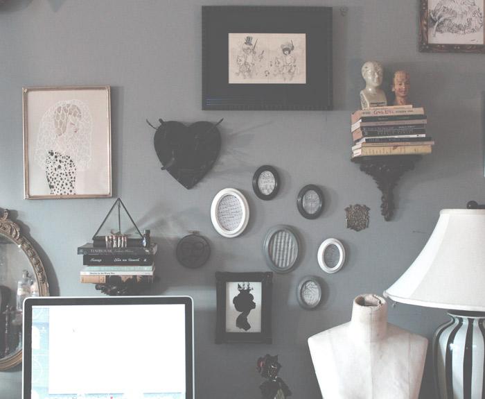 studio wall.