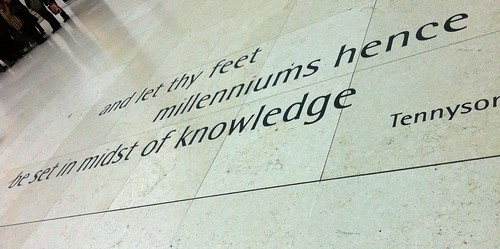 And let thy feet milleniums hence be set in midst of knowledge - Tennyson (Credits: Joanna Penn)