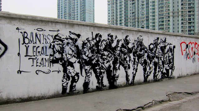 stencil shanghai 2012 - banksy