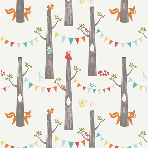 Woodland Party in Cream