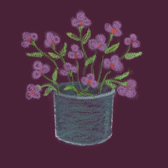 Pink Flowers (Digital Pastel Day 1) by randubnick