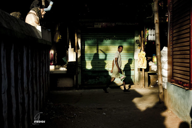 Beware of the Shadow warrior - 35 Fantastic Color Street Photographs
