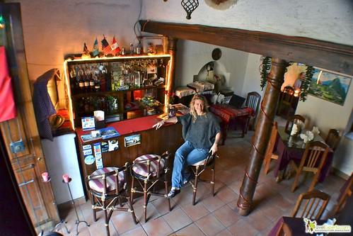 peruvian restaurant antigua guatemala - bar area from above