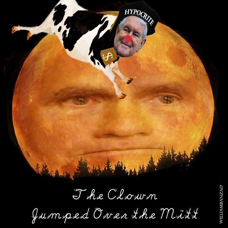THE CLOWN JUMPED OVER THE MOON