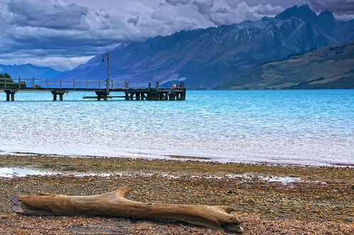 Pier at Lake Wakatipu, Glenorchy by Daniel Schwabe