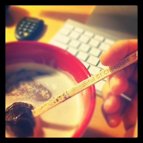 Spoonful of chocolate! Mmmmm.. ☕❤