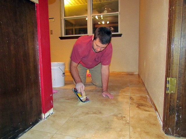 Putting in the Grout