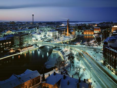 Tampere de noche