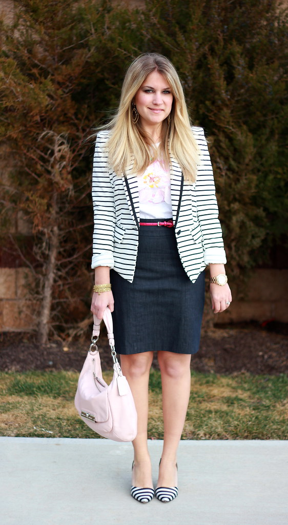 double stripes work outfit