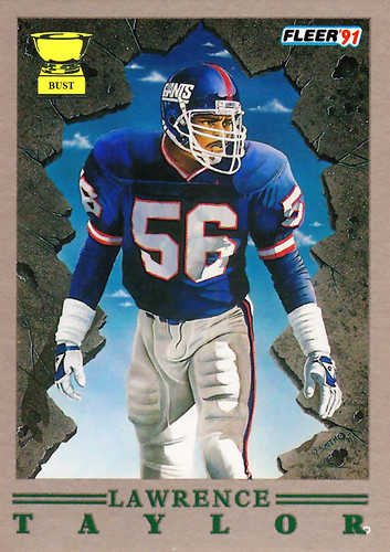 Baseball Card Bust: Lawrence Taylor, 1991 Fleer Pro-Visions