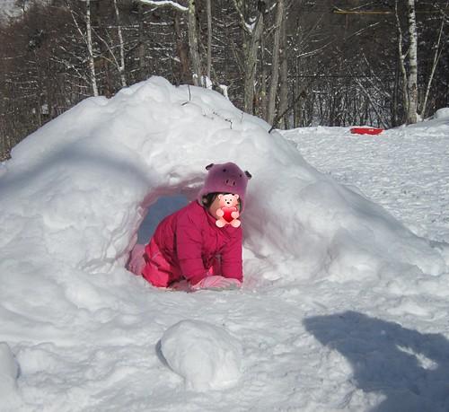 雪のトンネル 2012.1.29 by Poran111