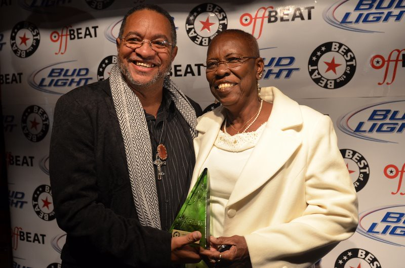George Porter, Jr. and his wife Ara at the Best of the Beat. Photo by Kim Welsh.