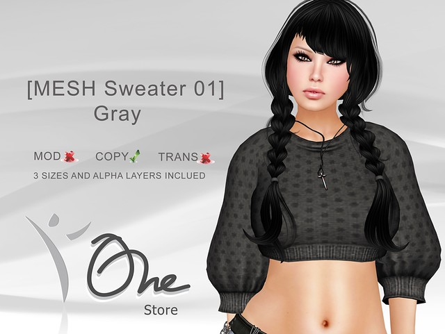 https://marketplace.secondlife.com/p/One-Store-MESH-Sweater-01-Gray/3146639