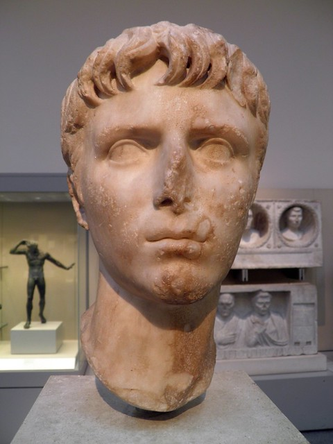 Marble head of Gaius Caesar (20BC - AD 4), from Italy, about  2BC - AD 4,  Roman Empire, British Museum