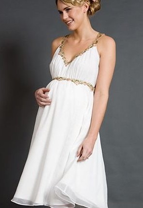 Maternity Bridesmaid Dress on Maternity Wedding Dress With Short Skirt    Wedding Dresses