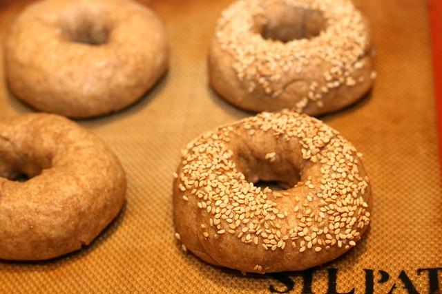 Whole Wheat Sourdough Bagels
