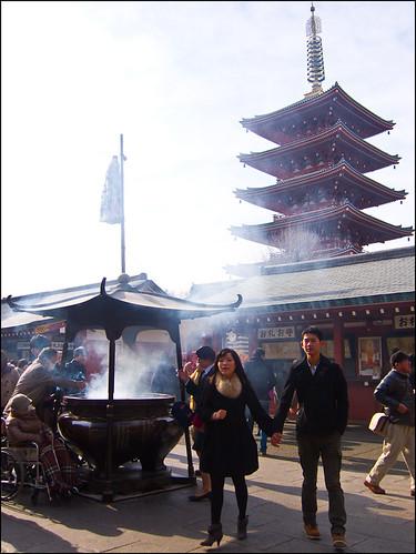Incienso y pagoda