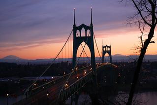 Sunrise on the St. Johns Bridge
