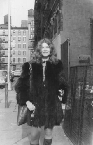 Trina Robbins in the Joni Mitchell coatiThe Coat