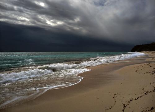 無料写真素材, 自然風景, 海, ビーチ・海岸, 暗雲, 風景  バルバドス