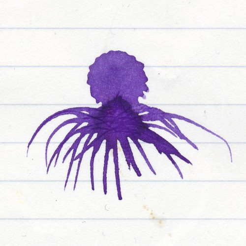 Purple ink octopus