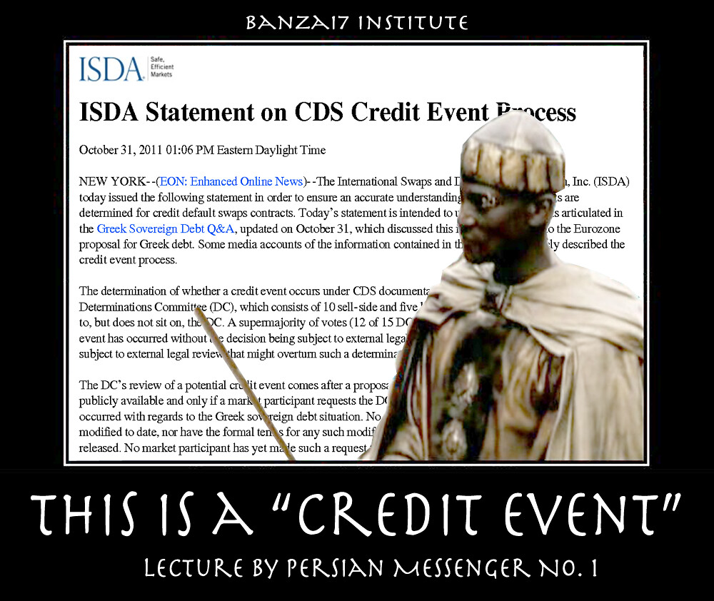 THIS IS A CREDIT EVENT