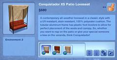 Conquistador XS Patio Loveseat