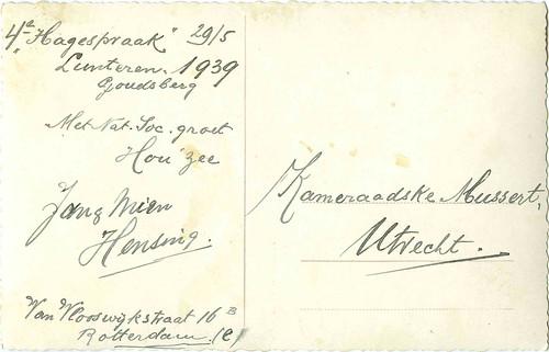 06B. Briefkaart gericht aan Maria Mussert-Witlam