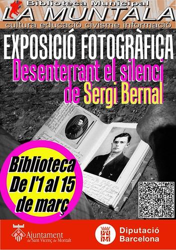Exposició fotogràfica: Desenterrant el silenci @ biblioteca 1-15 març by bibliotecalamuntala