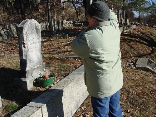 Photographing a Gravestone by midgefrazel