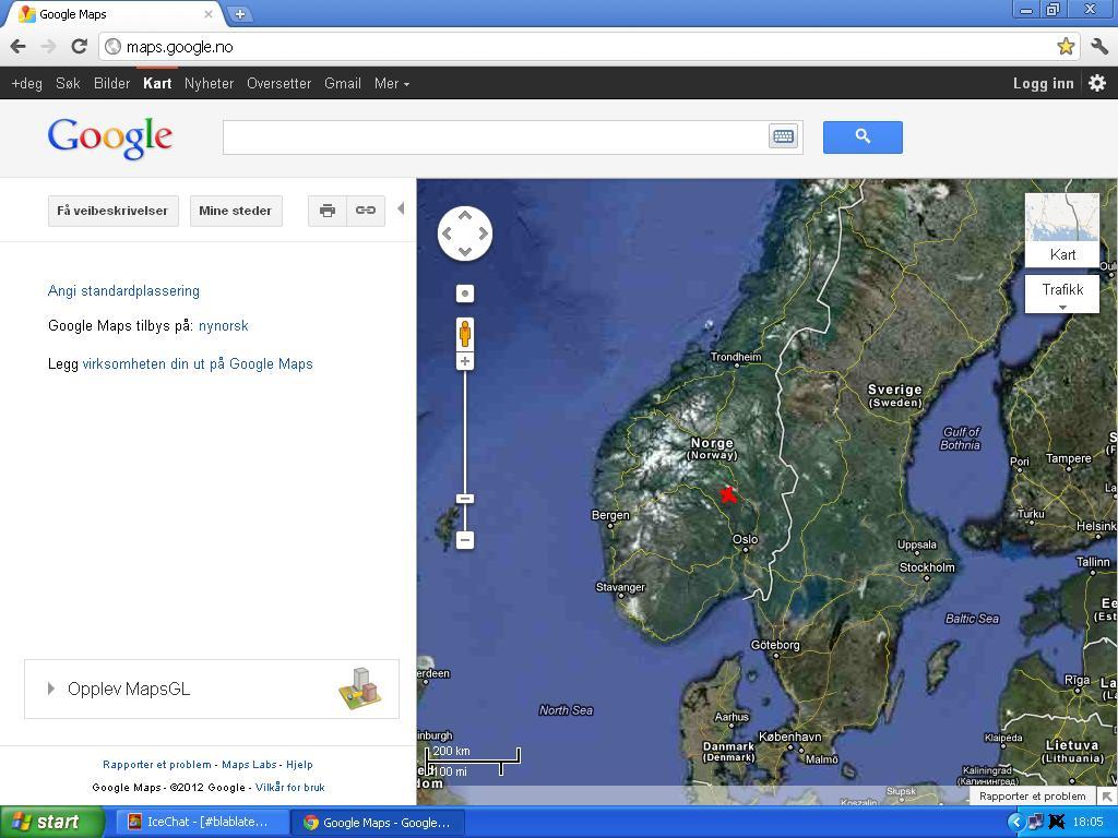 zoomet inn på google maps