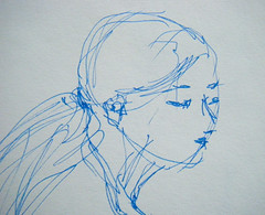 Five-Minute Sketch (Detail) from Feb. 8 Drawing Session by randubnick