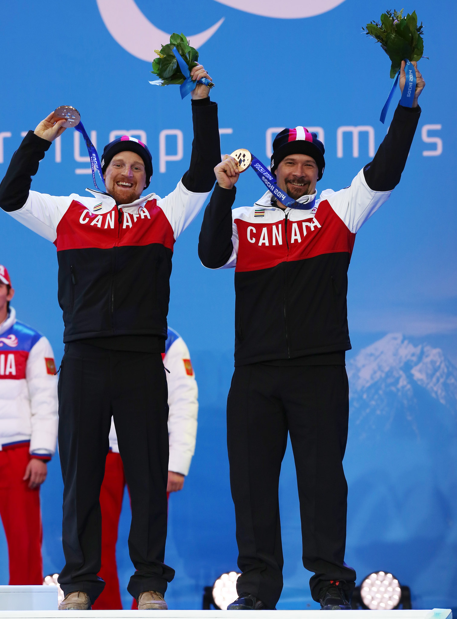 Williamson and Brush showoff their hardware in Sochi, RUS at the 2014 Paralympic Winter Games