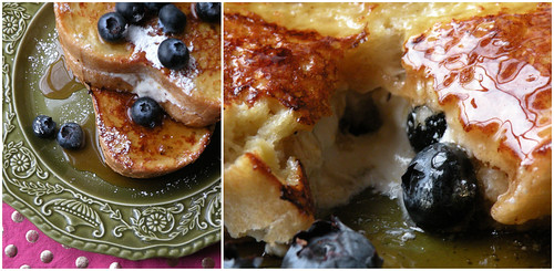 Lemon Ricotta Blueberry Stuffed French Toast