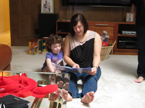 Madeline & Erica Reading a Book