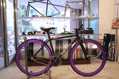 CUSTOM DURCUS ONE MASTER TRACK BIKE (2012 MATT BLACK SZ:40)