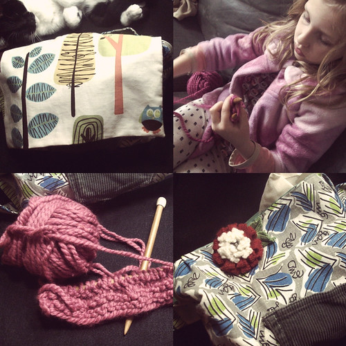 k's first knitting kit and project