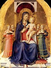 Fr. Angélico (1448), Jesús niño con la Virgen María