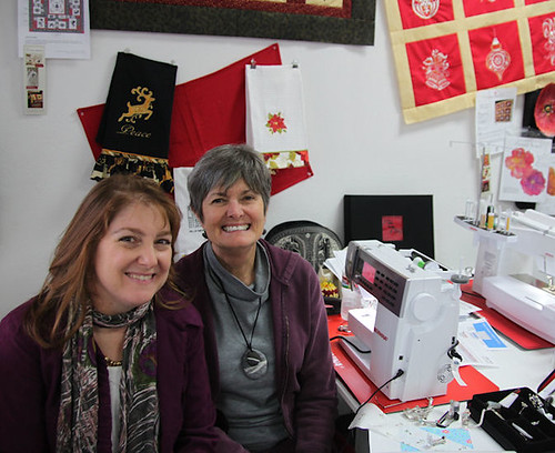 Daniela Stout and me at Cozy Quilt shop
